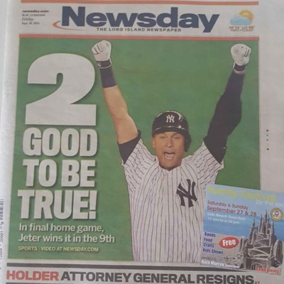 DEREK JETER-READ ALL ABOUT IT !