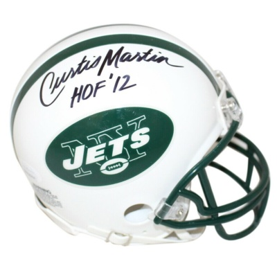 Signed Curtis Martin Mini Helmet -