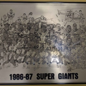 NY Giants metal artwork 1987 Super Bowl