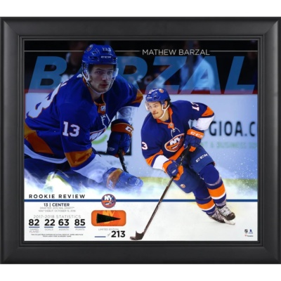 Mathew Barzal Rookie Review Collage - Limited Edition of 213