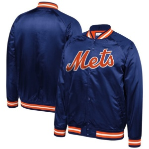 New York Mets Mitchell & Ness Big & Tall Satin Full-Snap Jacket