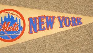 NEW YORK METS FELT PENNANT- FELT PENNANT