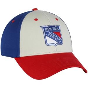 New York Rangers, adidas, Three-Tone Logo Snapback Hat -