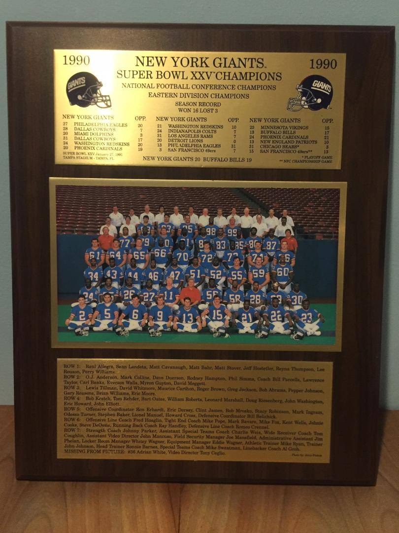 NY GIANTS-SUPERBOWL CHAMPS