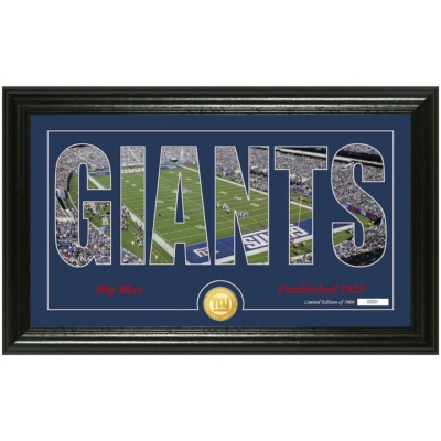 New York Giants Highland Silhouette Panoramic Photo Mint