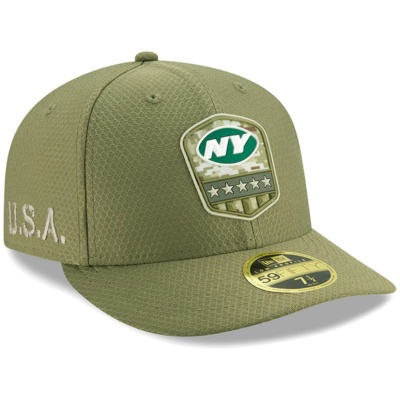 New York Jets New Era 2019 Salute to Service Fitted Hat