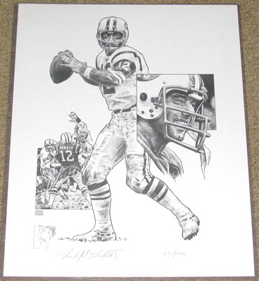JOE NAMATH-MICHAEL MELLETT LITHOGRAPH