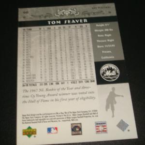 2005 Upper Deck Placards Silver #57/99 HOF Inducted 1992 Tom Seaver Mets #98