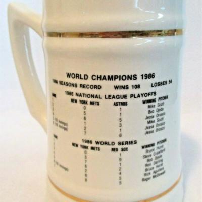 New York Mets World Series Champions 1986 Collectible Stein/Mug 25th