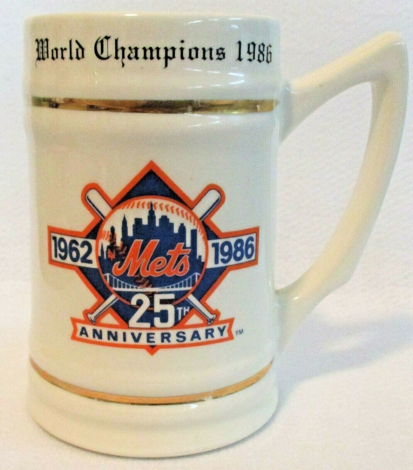 New York Mets World Series Champions 1986 Collectible Stein/Mug