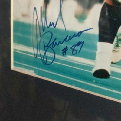 NY Giants Mark Bavaro signed 8×10 and limited edition artist litho run signed with certificate