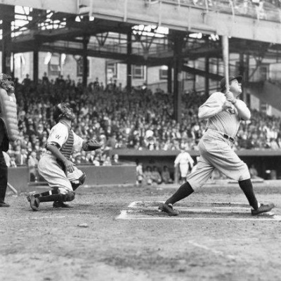 Babe Ruth hits 60th homer -YANKEE STADIUM- SEPTEMBER 30,1927