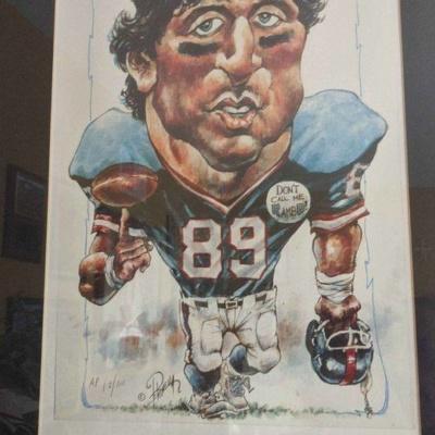 NY Giants Mark Bavaro litho