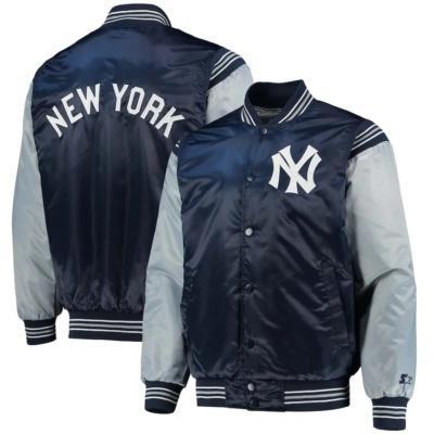 New York Yankees Starter Enforce Varsity Satin Full-Snap Jacket