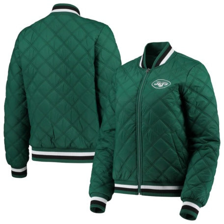 Women's New York Jets G-III 4Her by Carl Banks Quilted Bomber Full-Zip Jacket