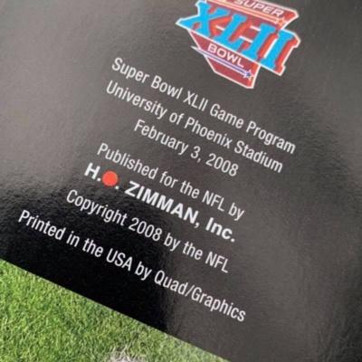 NFL 2008 Superbowl XLll Collectible Souvenir Game Program Giants Vs Patriot