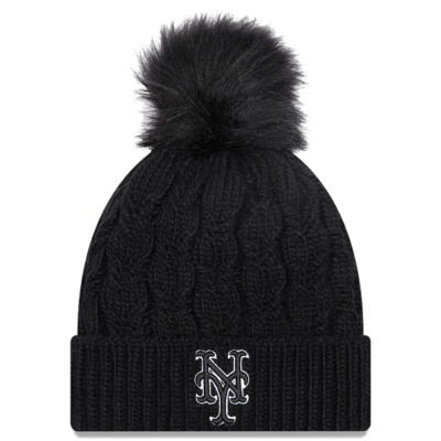 New York Mets Knit Hat with Pom