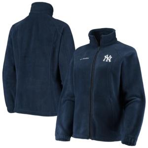 Women's New York Yankees Columbia Navy Benton Springs Fleece Full-Zip Jacket