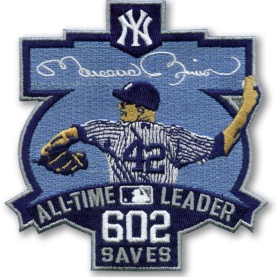 New York Yankees Mariano Rivera All-Time Leader Patch