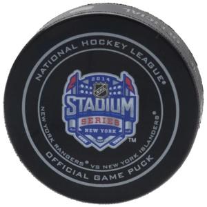 New York Rangers vs. New York Islanders 2014 NHL Game Puck