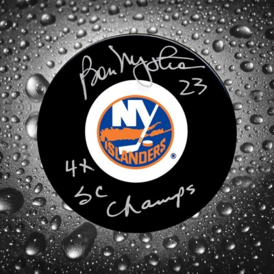 Bob Nystrom Signed Puck - 4x SC Champs