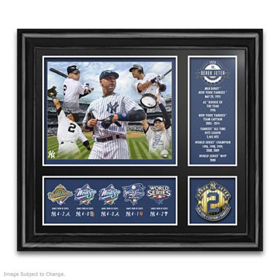 Derek Jeter: All-Time Great MLB Framed Wall Decor