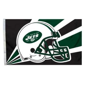 New York Jets Helmet Design Flag