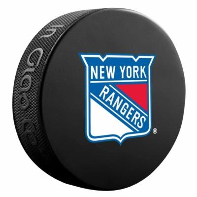 INGLASCO NHL BASIC LOGO PUCK – NEW YORK RANGERS