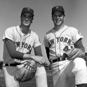 New York Mets NOLAN RYAN & TOM SEAVER Photo Baseball Print
