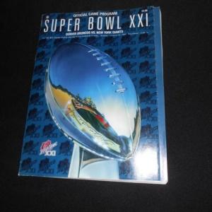 Official Game Program Super Bowl XXI Broncos vs Giants