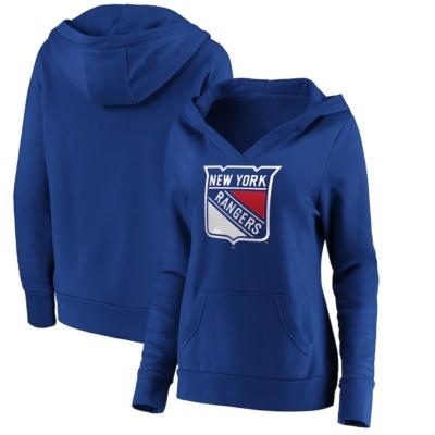 New York Rangers Fanatics Branded V-Neck Pullover Hoodie