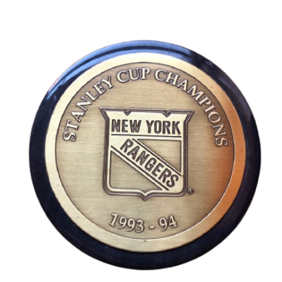 NY RANGERS Stanley cup memorial hockey puck