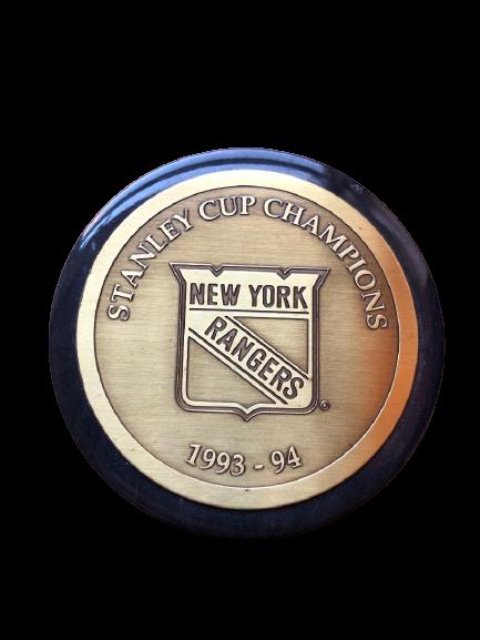 NY RANGERS Stanley cup memorial hockey puck