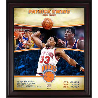 Patrick Ewing New York Knicks Player Collage