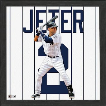 Derek Jeter New York Yankees Impact Jersey Framed Photo
