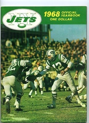 NEW YORK JETS YEARBOOK-1968 SUPERBOWL SEASON PROGRAM