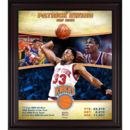 Patrick Ewing New York Knicks Player Collage