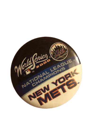 ny mets world series button