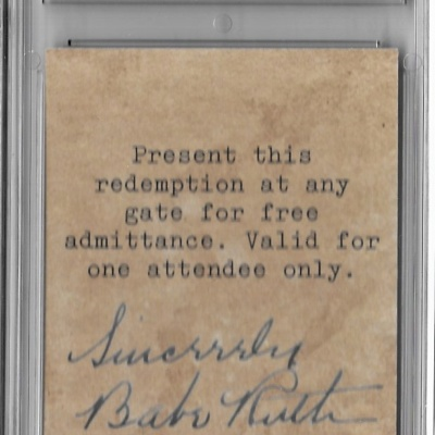 Babe Ruth Graded Witch-E Base-Ball Game Promotional Baltimore Novelty Company