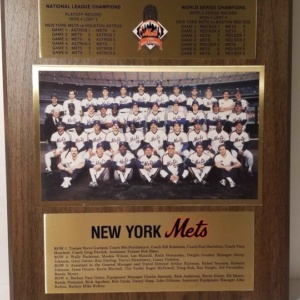 NY Mets 1986 World Series Championship Plaque