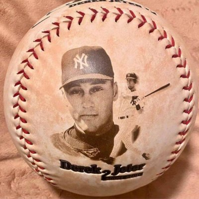 Derek Jeter Memorabilia Photo Baseball (Jumbo)