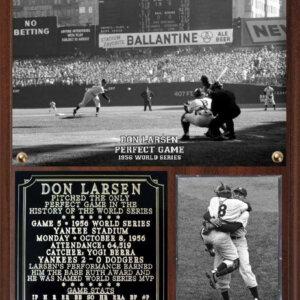 Don Larsen Perfect Game 1956 World Series Photo Plaque