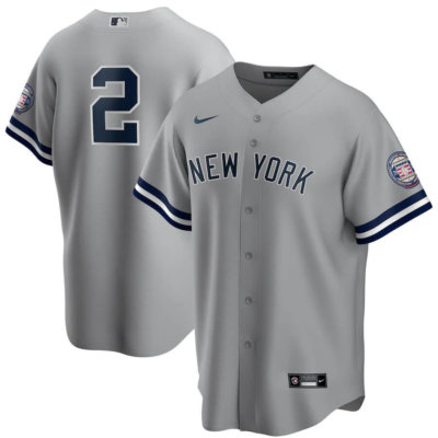 Derek Jeter Nike Gray 2020 Hall of Fame Replica Jersey