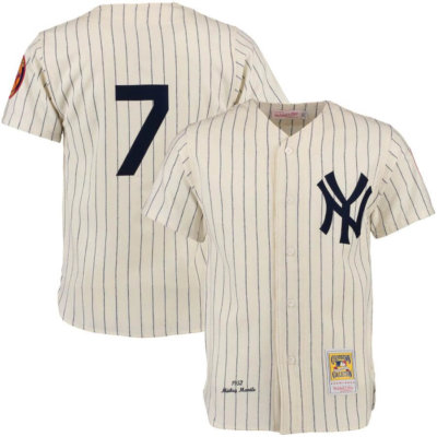 Mickey Mantle Throwback Authentic Jersey