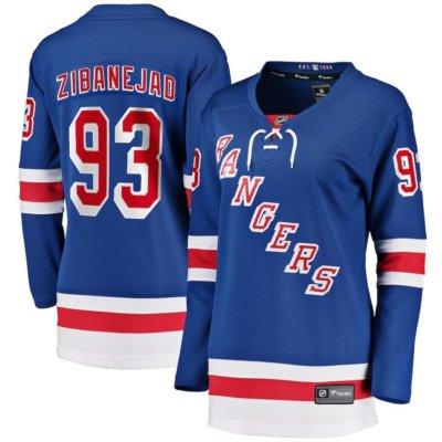 Women's New York Rangers Mika Zibanejad Premier Breakaway Player Jersey