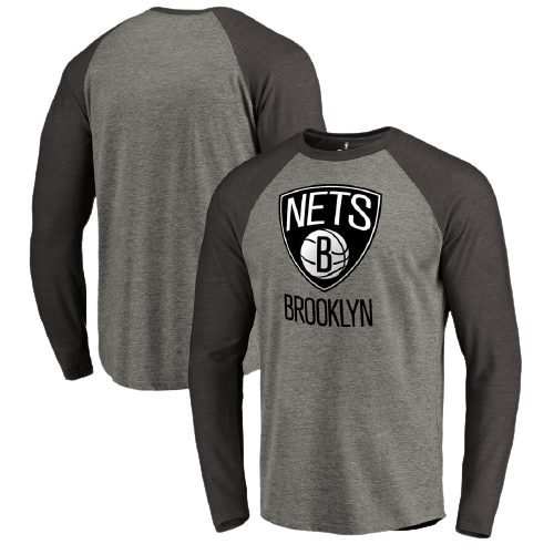 Brooklyn Nets  Primary Logo Raglan Long Sleeve T-Shirt -