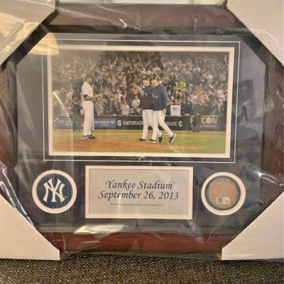 Mariano Rivera Final Game Collage with Dirt from 2013 game