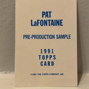 91 Topps Hockey Pat LaFontaine Promo Card