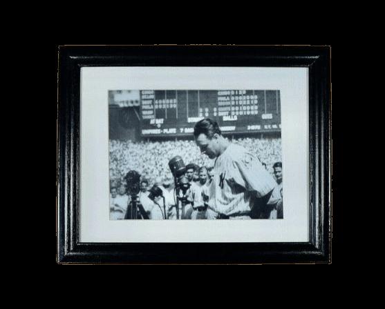 Lou Gehrig - N.Y. Yankees - Farewell Speech Yankee Stadium