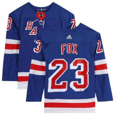 Adam Fox New York Rangers Autographed Authentic Jersey
